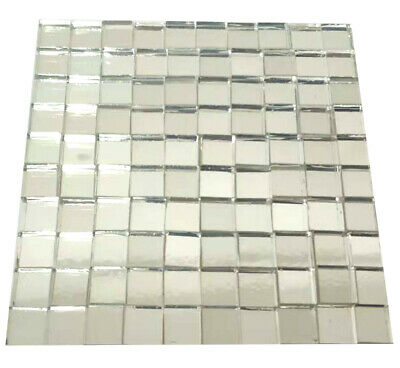 Mirror Mosaic Tiles 10mmx10mm Glass Craft Small Square Mirrors Bulk 100 Pieces - Mirror Pieces