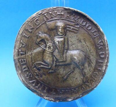 Pfalzgraf Rudolf v. Tübingen 1188 Historische Siegel Eitzen Historical seals