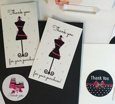 Thank You For Your Purchase Business Cards Stickers Ladies Fashion 60 Sets