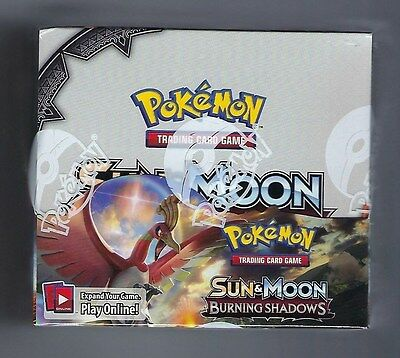 POKEMON TCG SUN & MOON BURNING SHADOWS BOOSTER SEALED BOX - ENGLISH