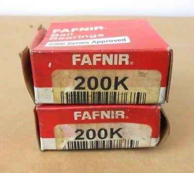 Lot Of 2 Nib Fafnir 200k Deep Grove Ball Bearing 10mm X 30mm X 9mm Open