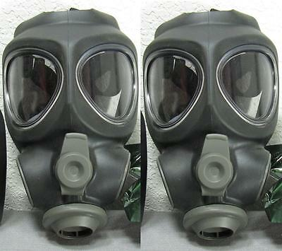 2x Adult Scott M95 Respirator Gas Mask Swat Military Police Prepper No -filter