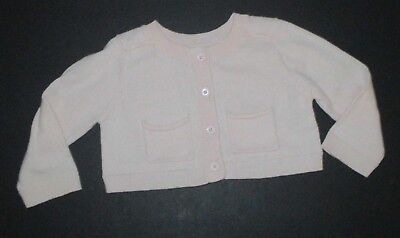 - INFANT GIRLS BABY GAP LIGHT PINK CARDIGAN SWEATER SIZE 3-6 MONTHS