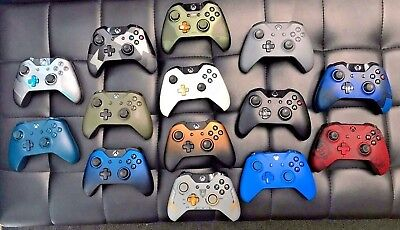 Authentic Microsoft Xbox One S Wireless Controller Gamepad White Black Collector