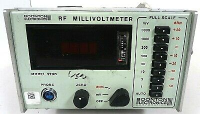 Boonton Electronics Rf Millivoltmeter Model 92bd As Is- Free Shipping