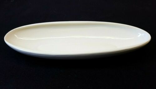 "Steubenville Raymor Contempora 13¼"" Celery Dish by Ben Seibel Sand White MCM"