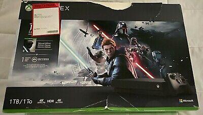 Microsoft Xbox One X 1TB Star Wars Jedi: Fallen Order Edition Console Bundle-New