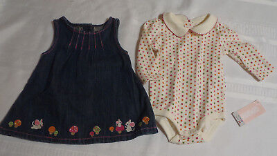 Gymboree Cute As A Mouse 0-3 Month Dress Bodysuit Outfit NWT