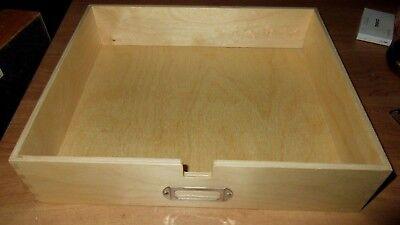 Wood Desk Tray Letter Size Solid Oak 12 X 9.75 X 2.5