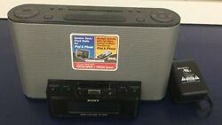 Sony Dream Machine ICF-CS10iP AM FM Clock Radio Plus Dock for iPod/iPhone