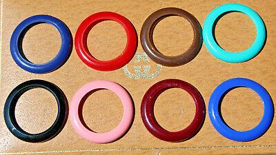 GUCCI Set 8pc Plastic Bezels 1100/1200 Watch Black Purple Blue Red green brown