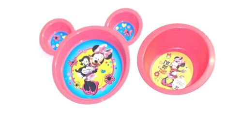 Baby Feeding Set Disney Minnie Mouse Sectioned Plate & Deep Bowl Set