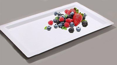 Disposable Plastic Serving Trays (Disposable Food Tray Party Wedding Plastic Serving Tray Rectangle - Pack of)