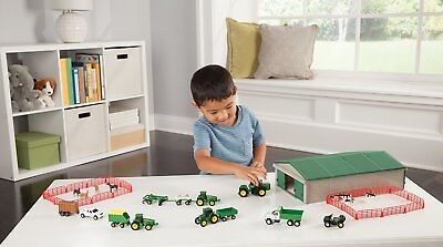 Tractor Farm Toy Play Set John Deere Kids 70 Pc Gift Boy Animals Machine Shed