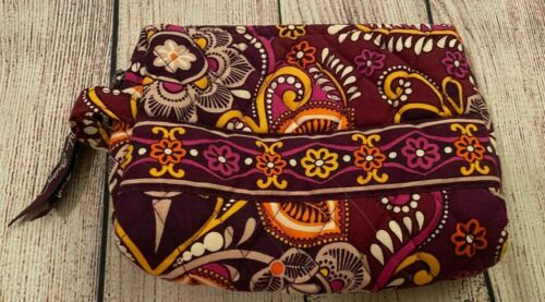 Vera Bradley Cosmetic Bag in Safari Sunset - Make-up Case - Purple, Orange