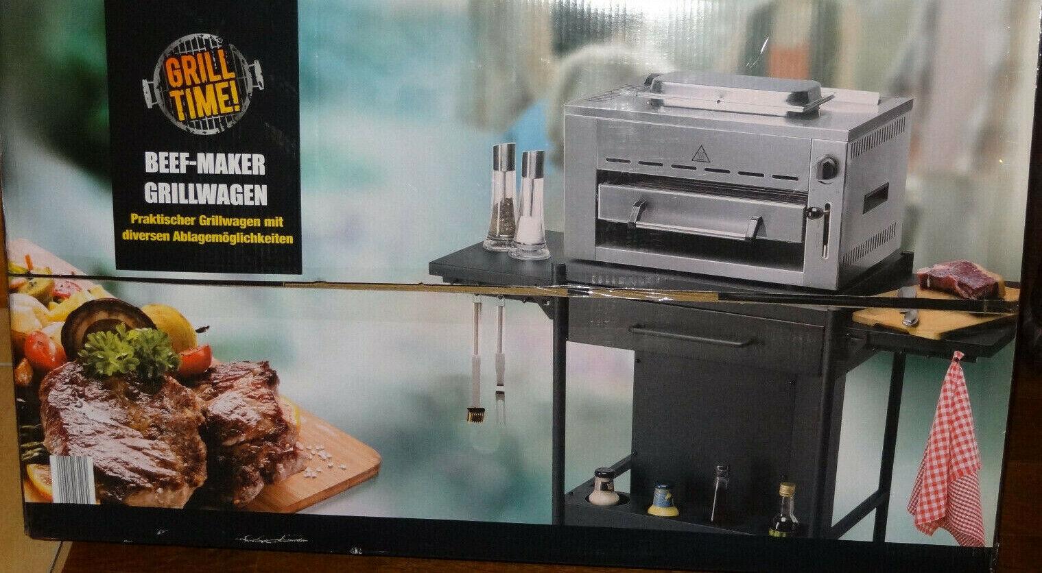 Grillwagen für Beef Maker PRO  mit diversen Ablagemöglichkeiten / Grill Time