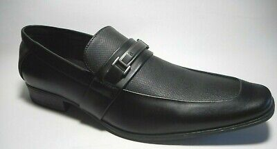 BRAND NEW CALVIN KLEIN Size 9.5 Mens Black Wing Tip Heel Dress Shoes