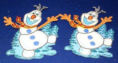 FROZEN OLAF SNOW MEN PARTY SUPPLY DECORATION FOAM FIGURES 10 PACK GLITTER - Foam Figures
