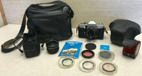 Vintage Praktica MTL3 Camera W/ Hanimar Lens, Case, Filters