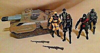 Gi Joe Cobra Girl (GI JOE TANK 2004 HASBRO #41201 5 FIGURES ACCESSORIES GUNS COBRA TROOPER)