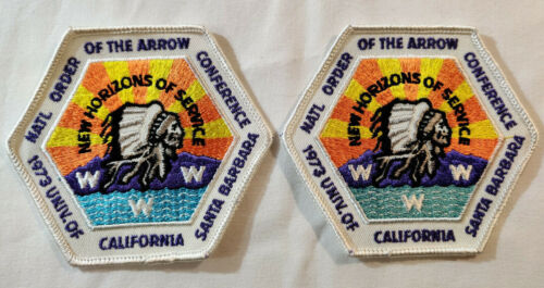 Lot of 2 OA BSA Scouts 1973 NOAC PATCH NATIONAL ORDER OF THE ARROW CONFERENCE