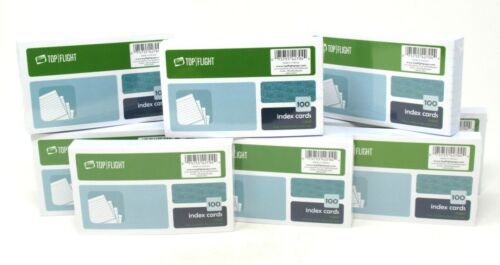 "(12) Top Flight 3""X5"" Ruled Index Cards 100 Count Each 1200 Total No 3500R"