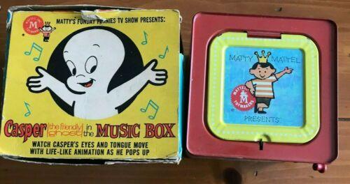 Vintage 1959 Mattel Toymakers Casper The Friendly Ghost Music Box