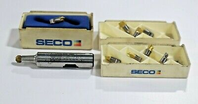 Seco Mm08-0.62-3.0-3-3004 Mini Milling Toolholder 10 New Inserts  D412
