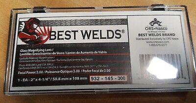 """Best Welds MAGnifier Cheater Lens 1.75 Focal Power 2/"""" X 4-1//4/"""" MP-2-1.75"""
