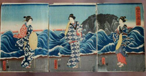 ORIGINAL JAPANESE WOODBLOCK PRINT WOMEN
