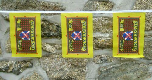 Scotland the Brave Tartan Flag Polyester Bunting - Various Lengths
