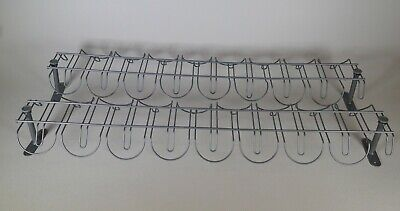 "LOT OF 2 IKEA SIGNUM Cable Management 28"" SYSTEMS SILVER PRE-OWNED for sale  Shipping to India"