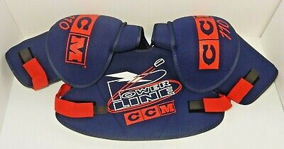 NEW CCM POWERLINE SP110L ICE HOCKEY SHOULDER PADS ~ BLUE/RED SIZE: ADULT LARGE