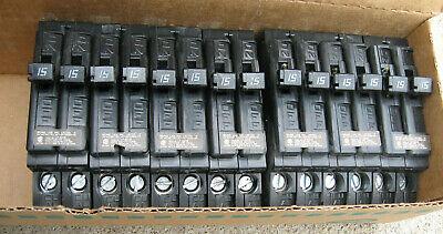 7 Lot Challenger 15a Lp6316 E16248 Type A 2 1 Pole Circuit Breakers