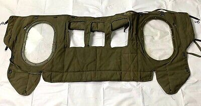 Vintage US Army Jeep Cover With Windows