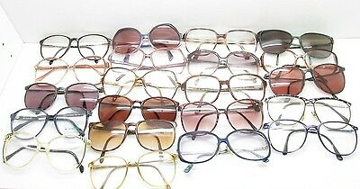 SET of 21 VINTAGE WOMENS OVERSIZED EYEGLASSES FRAMES eyewear bulk lot TV6 S97