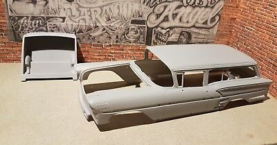(1958 Chevy Impala Wagon Custom 1/25 scale Resin Kit lowrider.....Revell only)