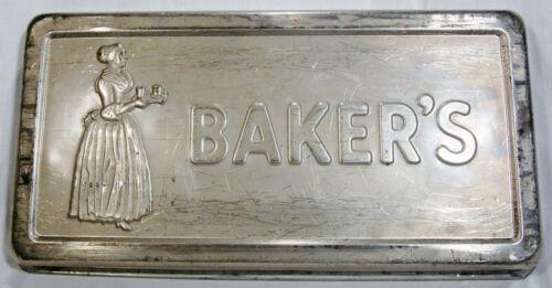 VTG Walter Baker & Co Chocolate Backing Pan Employee Appreciation Gift RARE!