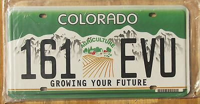 COLORADO AGRICULTURE  license plate  2013  161 EVU