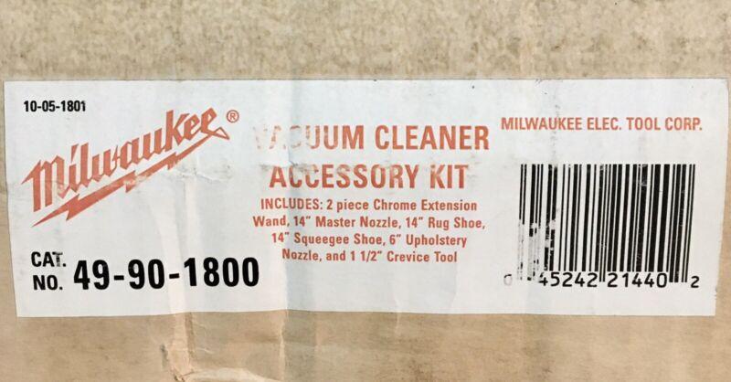 Milwaukee Vacuum Cleaner Accessory Kit 49-90-1800 6 Piece New