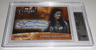 JAIMIE ALEXANDER 2011 Thor Movie Autographs Issued in 2012 Avengers Assemble WOW