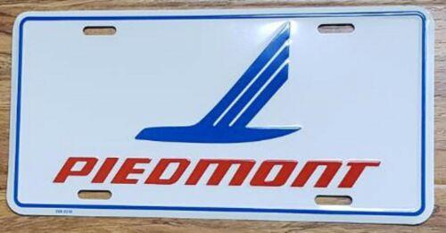 Piedmont Airlines License Plate Embossed Features Blue Speedbird 1986 MNT