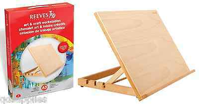 A3 REEVES ART & CRAFT WORK STATION WOODEN DRAWING BOARD ARTIST TABLE EASEL