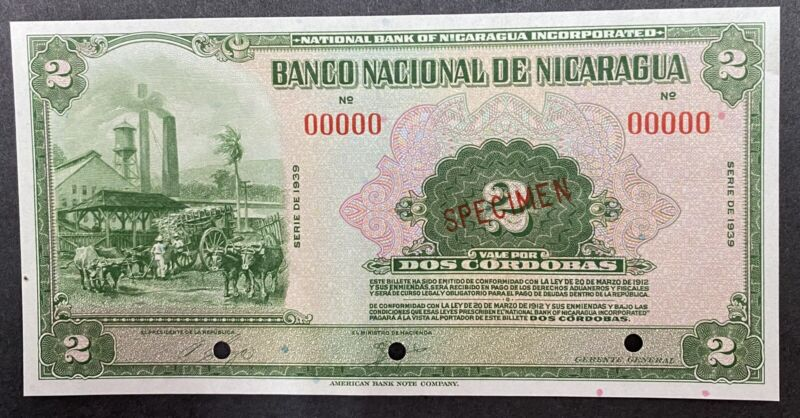 Nicaragua Specimen Banknote P 64s