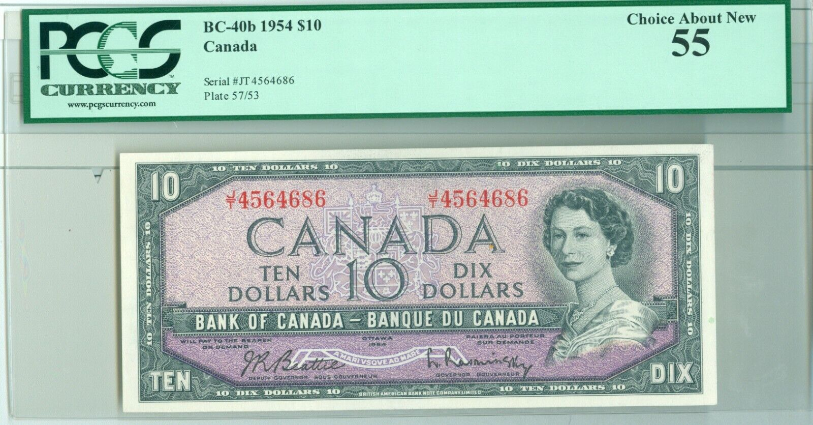 RECTO 10 Dollars Type 1954 Modified - None