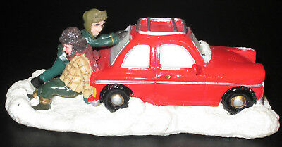 "St Nicholas Square ""Stuck in a Rut"" Christmas Snow Village Collection Car Figure"