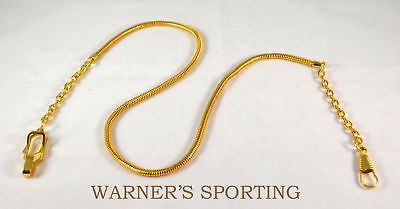 "(WARNER WHISTLE SNAKE CHAIN EPAULET CLIP >GOLD< 20"" UNIFORM )"