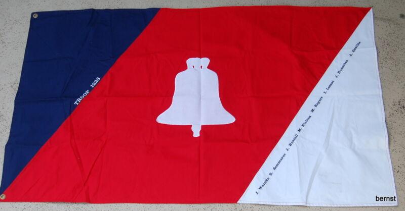 VINTAGE BOY SCOUT FLAG - TROOP 1228 - 8 NAMES - NATIONAL OR WORLD JAMBOREE?