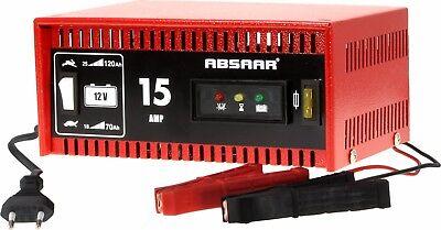 ABSAAR Batterieladegerät 15 Ampere 12 Volt KFZ Ladegerät - Auto PKW Werkstatt