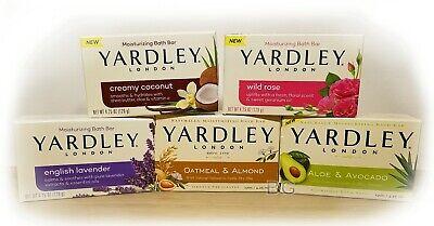 Yardley London Soap 4.25oz Bars. Lavender Aloe Coconut Rose Hand Face Body Wash